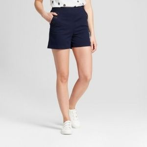 A New Day Navy High Waisted Sailor Shorts NWOT